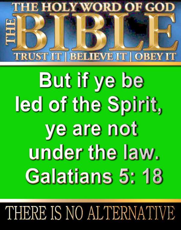 If you are led by the Holy Spirit