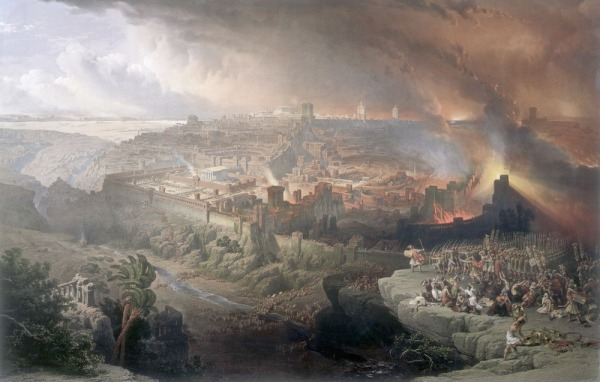 Destruction of Jerusalem by Ercole de' Roberti
